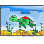 zandtekening schildpad.png